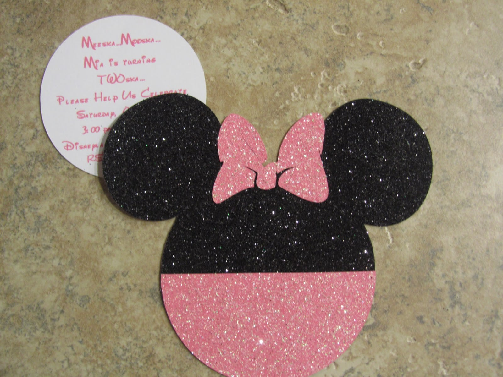 Minnie Mouse Birthday Invite Template 2