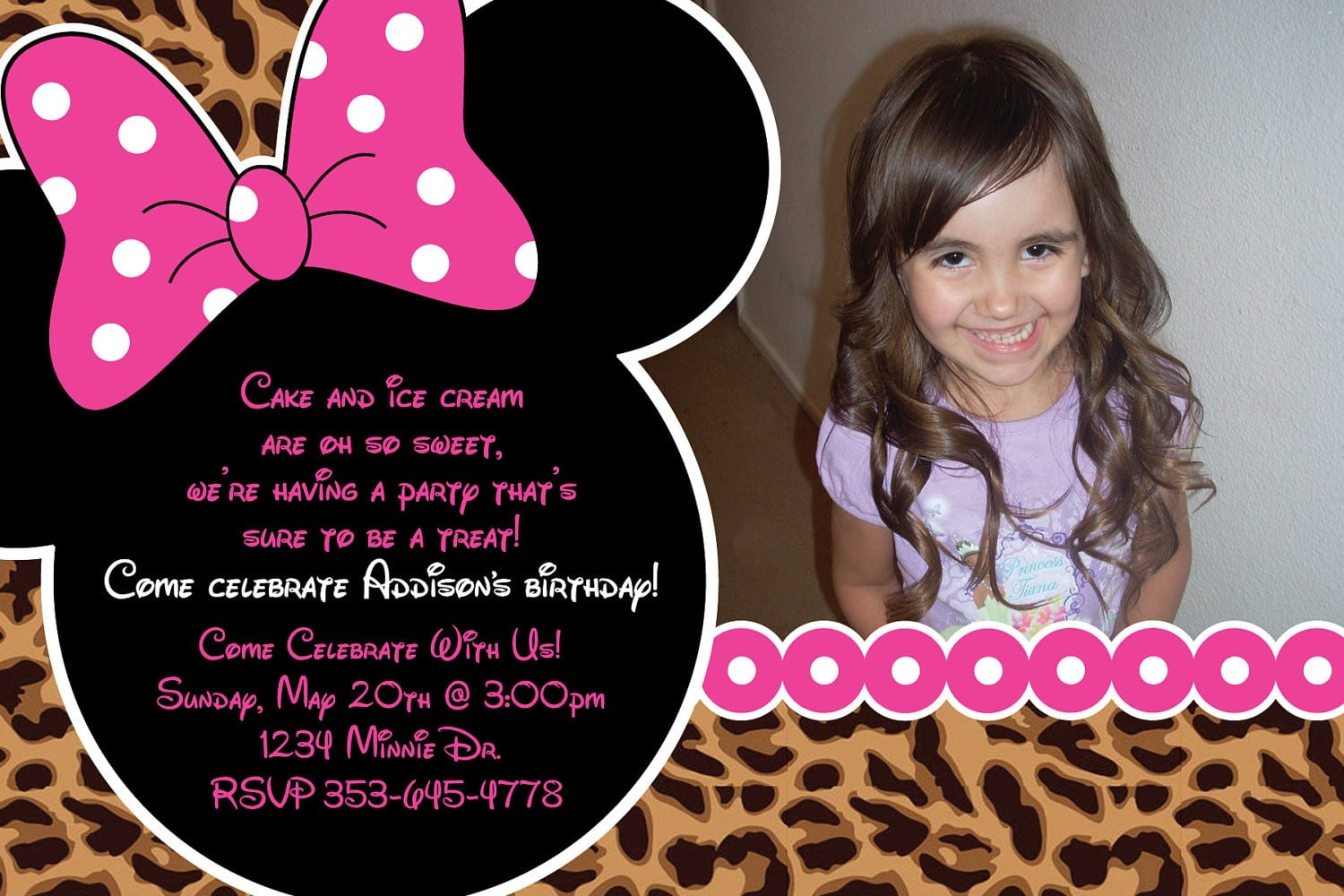 Minnie Mouse Birthday Invite Template 4
