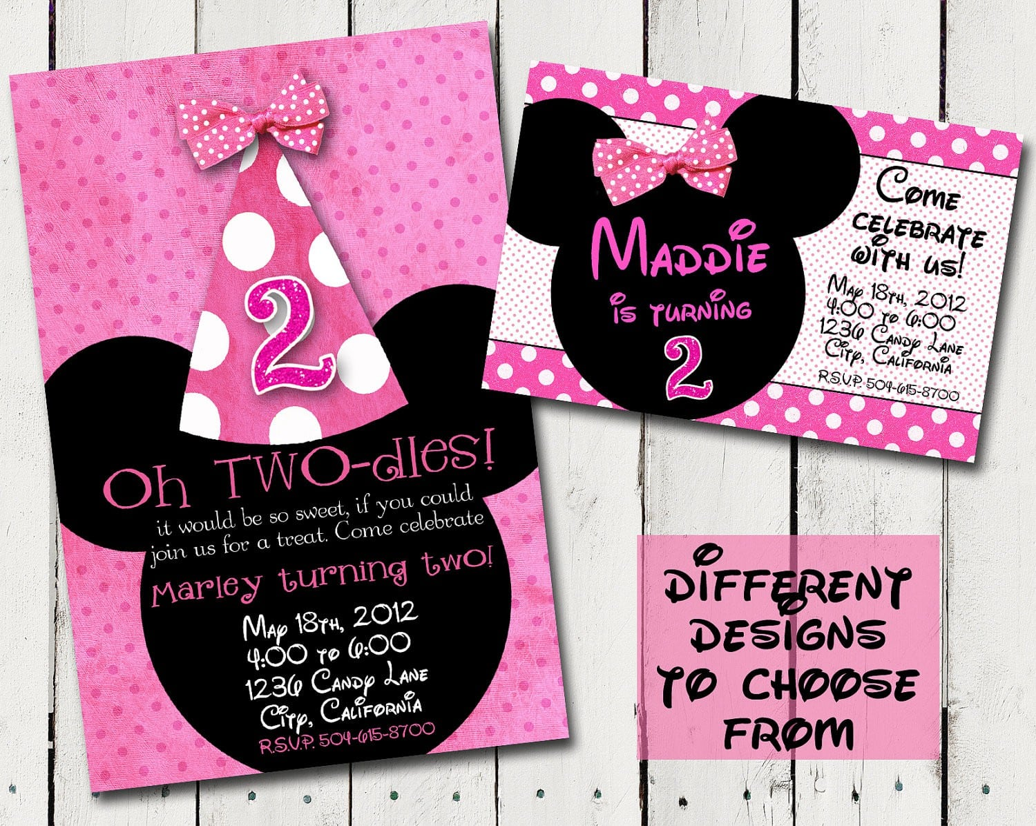Minnie Mouse Birthday Invite Template 5