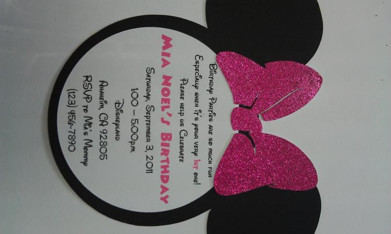 Minnie Mouse Birthday Invites 2