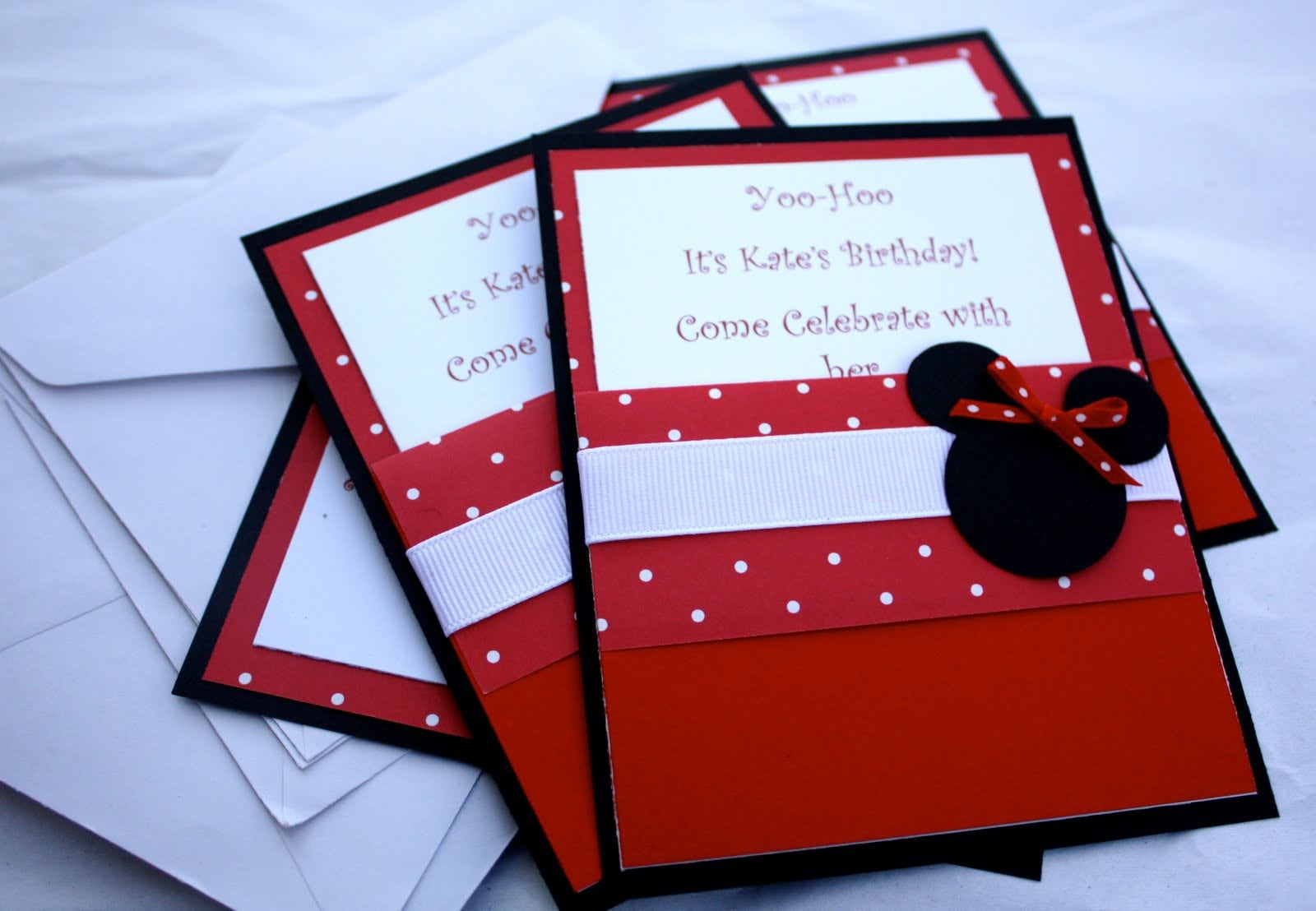 Minnie Mouse Birthday Invites 3