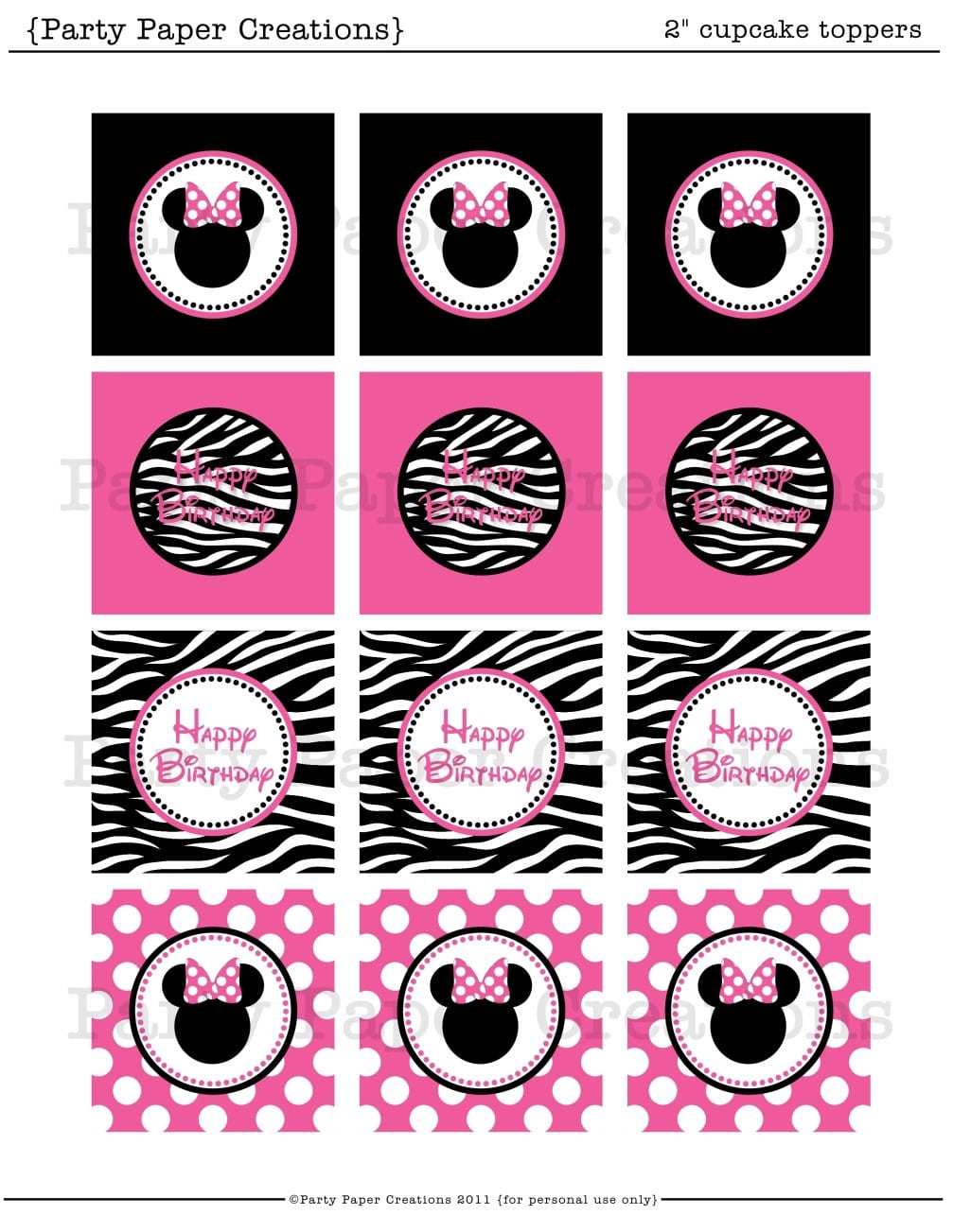 Minnie Mouse Birthday Party Templates