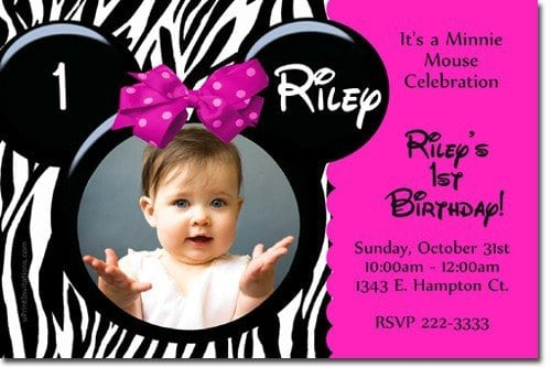 Minnie Mouse Christening Invitations 4