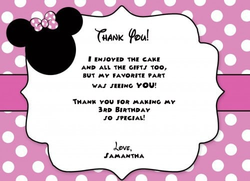 Minnie Mouse Christening Invitations Free 4