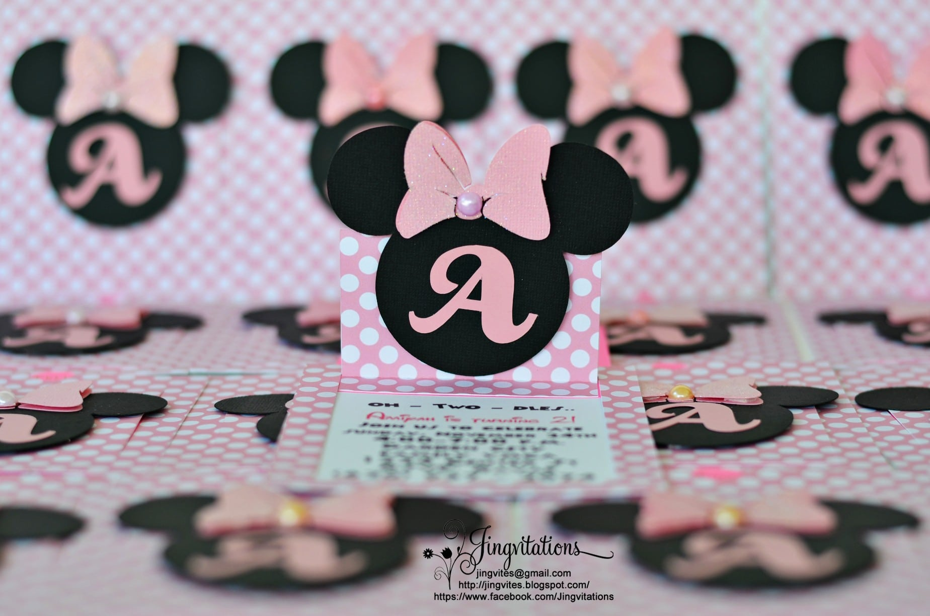 Minnie Mouse Christening Invitations Free 5