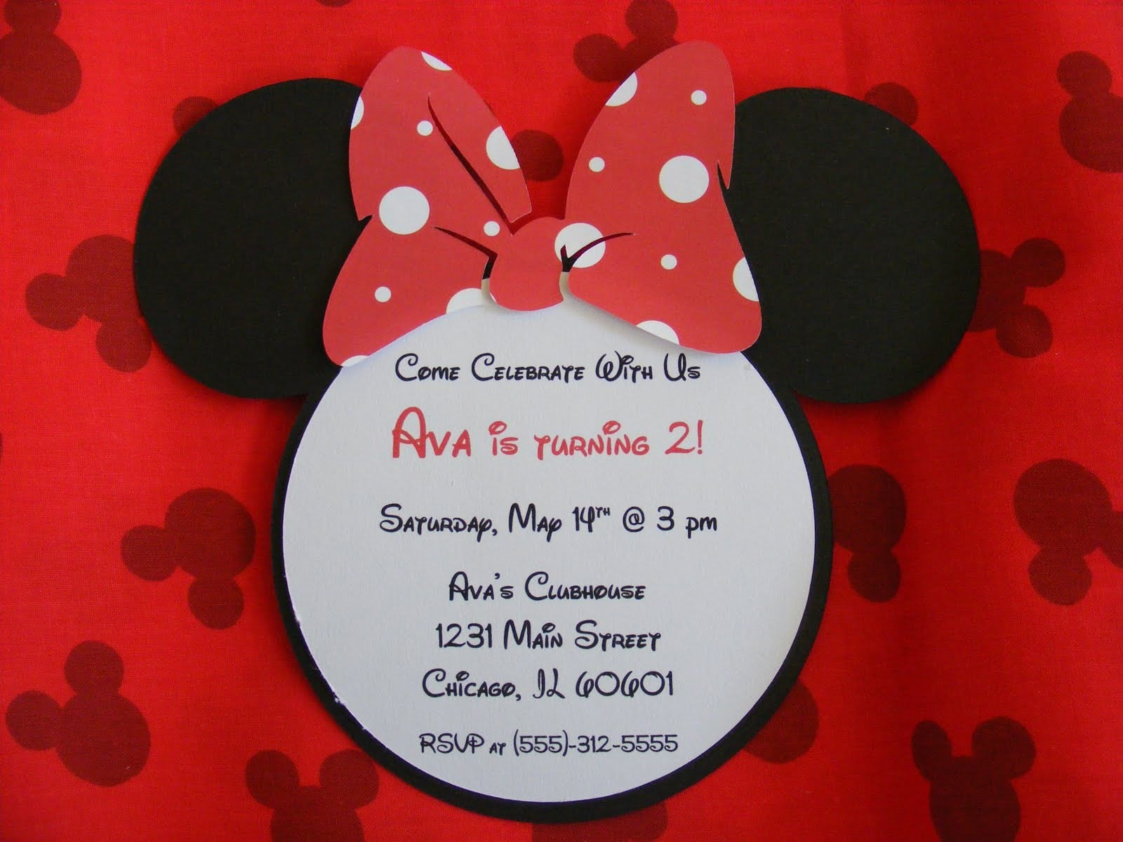 Minnie Mouse Christening Invitations Free