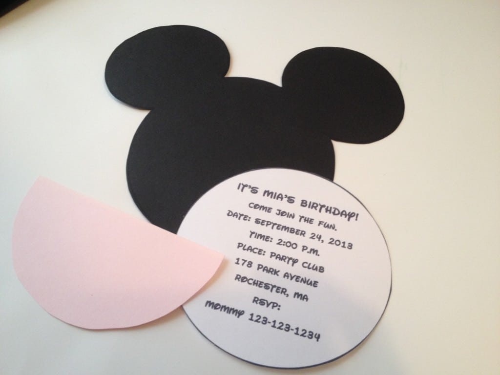 Minnie Mouse Ears Template For Invitations
