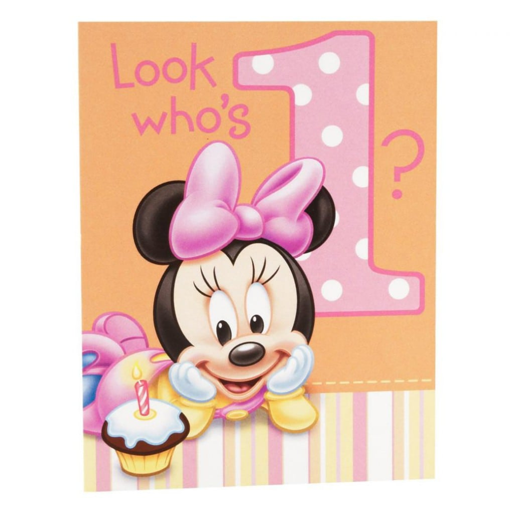 Minnie Mouse First Birthday Invitation Templates 2