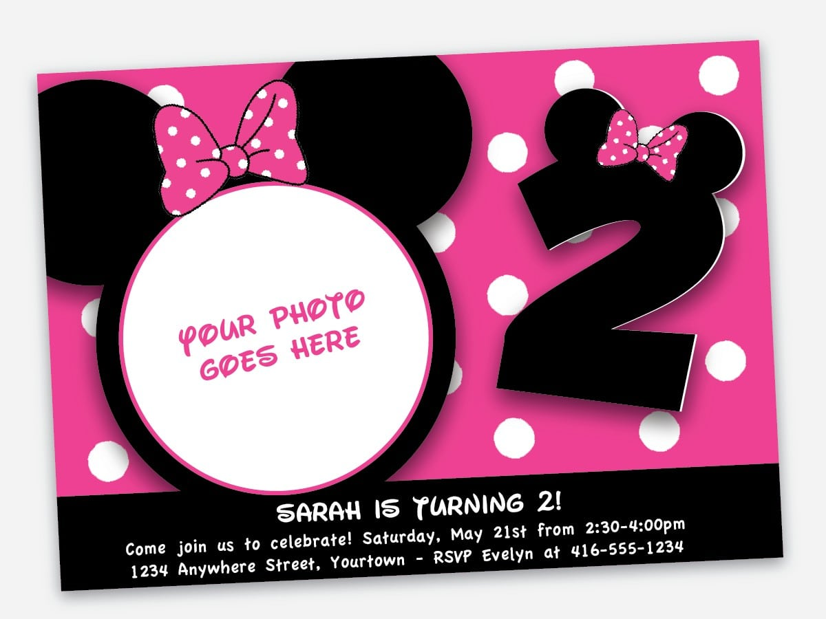 Minnie Mouse Free Invitations Printable