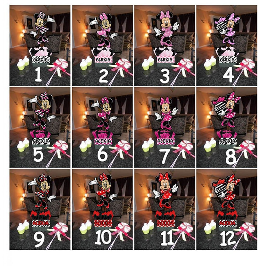 Minnie Mouse Hawaiian Birthday Invitations 4