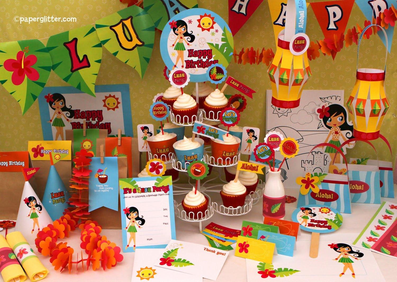 Minnie Mouse Hawaiian Birthday Invitations 5