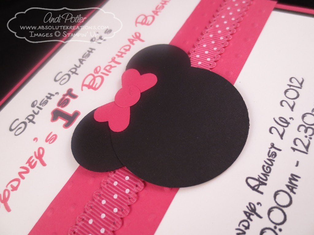 Minnie Mouse Invitation Layout 5