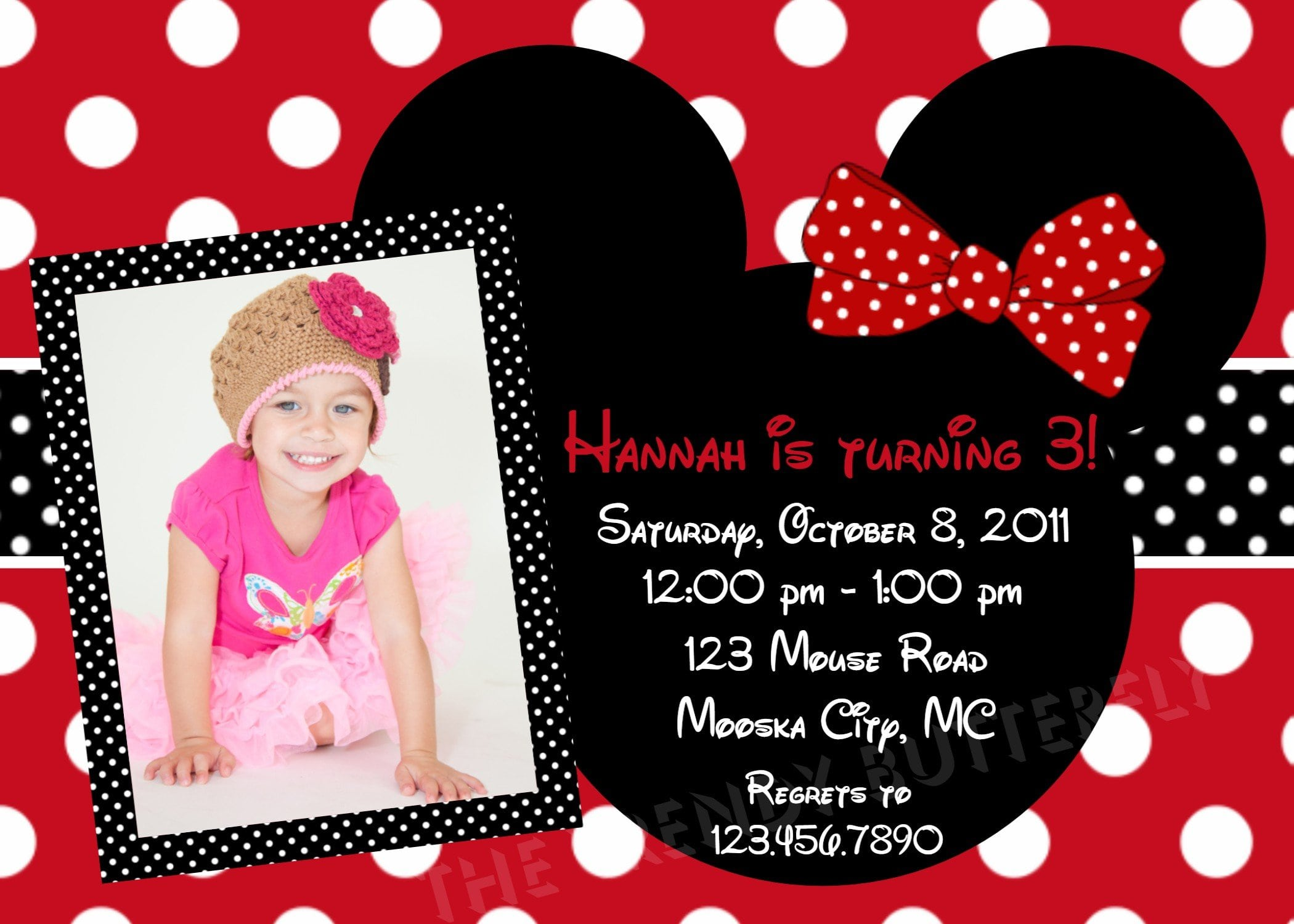 Minnie Mouse Invitation Template Download 3