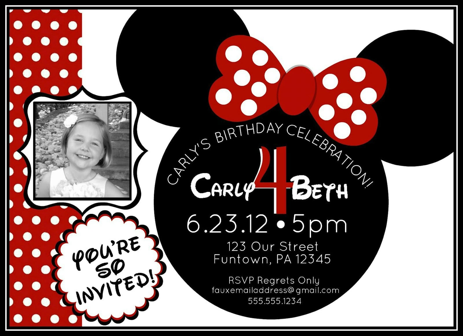 Minnie Mouse Invitation Templates With Picture 3