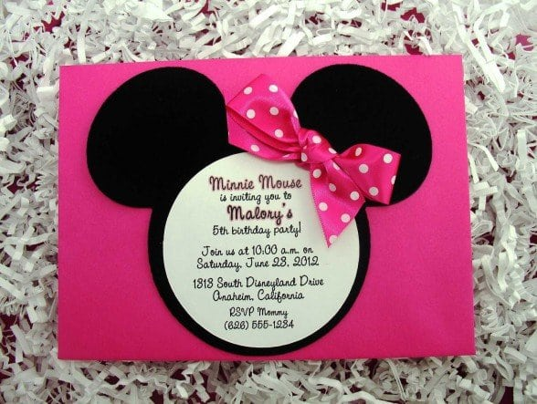 Minnie Mouse Invitation Templates With Picture 5