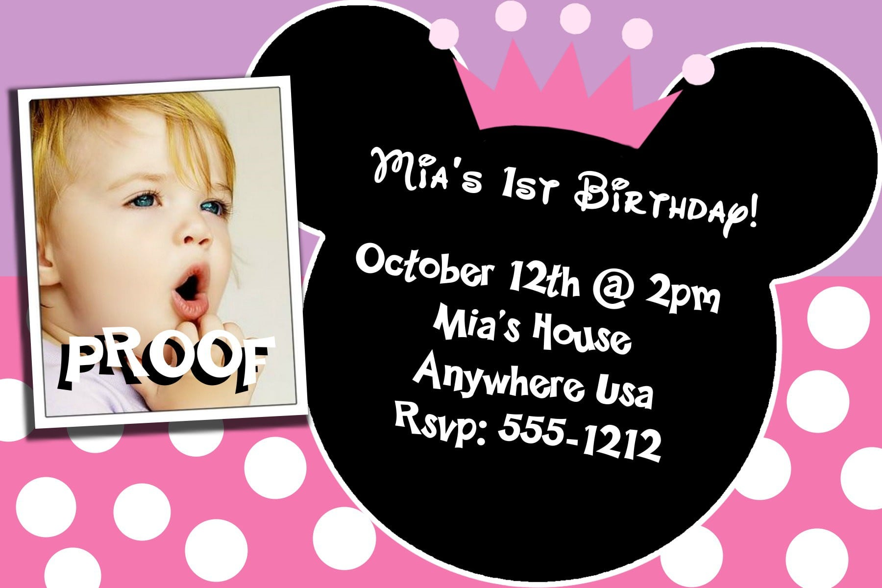 Minnie Mouse Invitations Template Free 2017