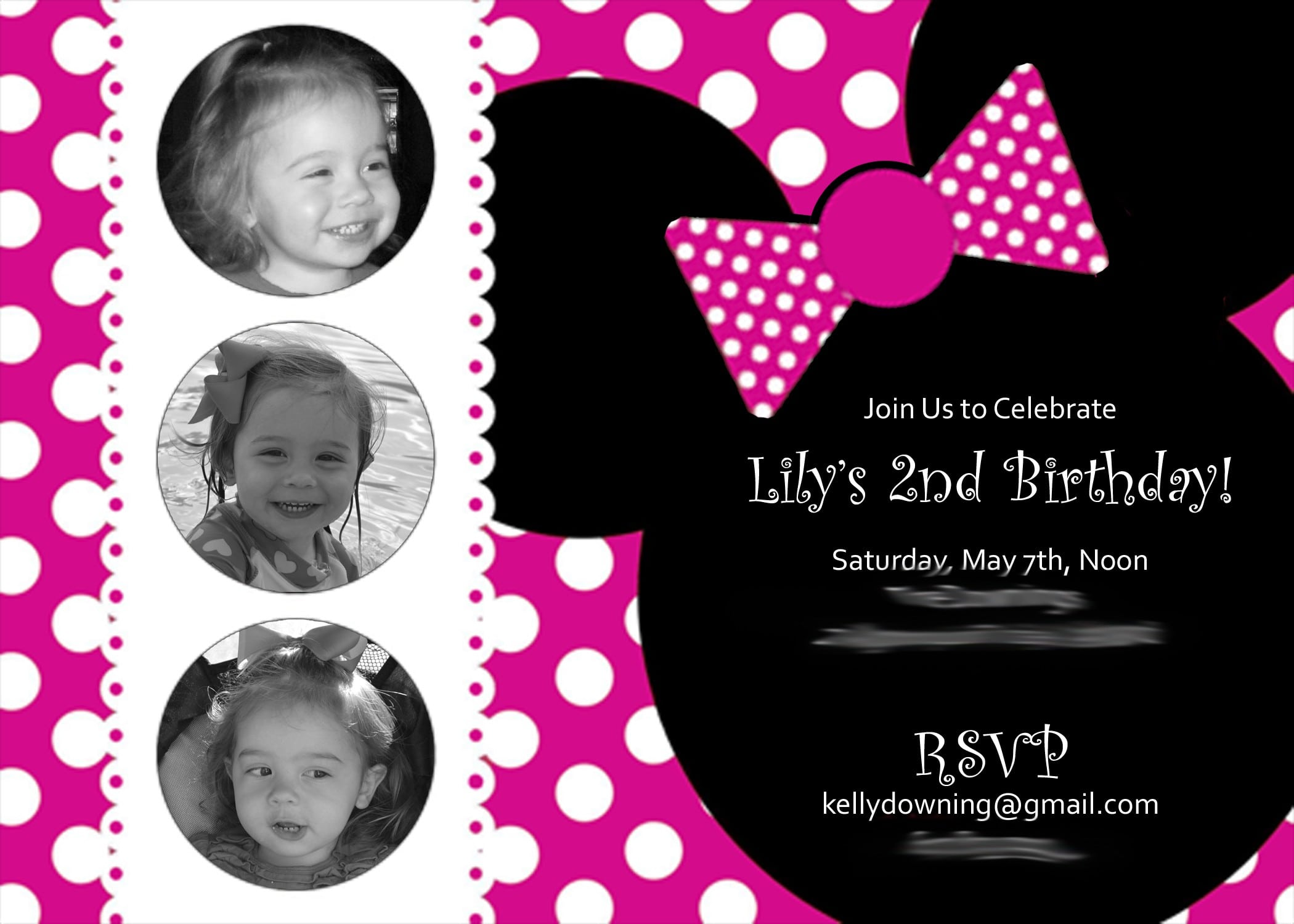 Minnie Mouse Invitations Template Free