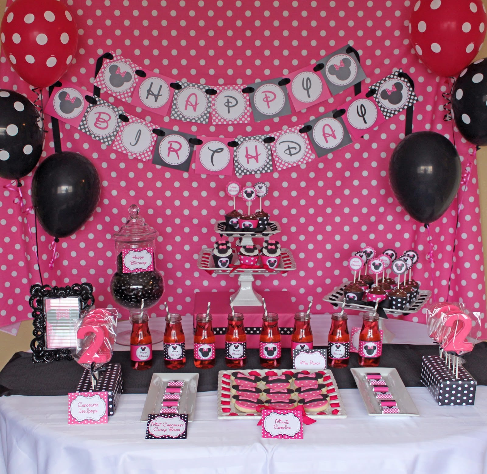 Minnie Mouse Invites 1st Birthday 2