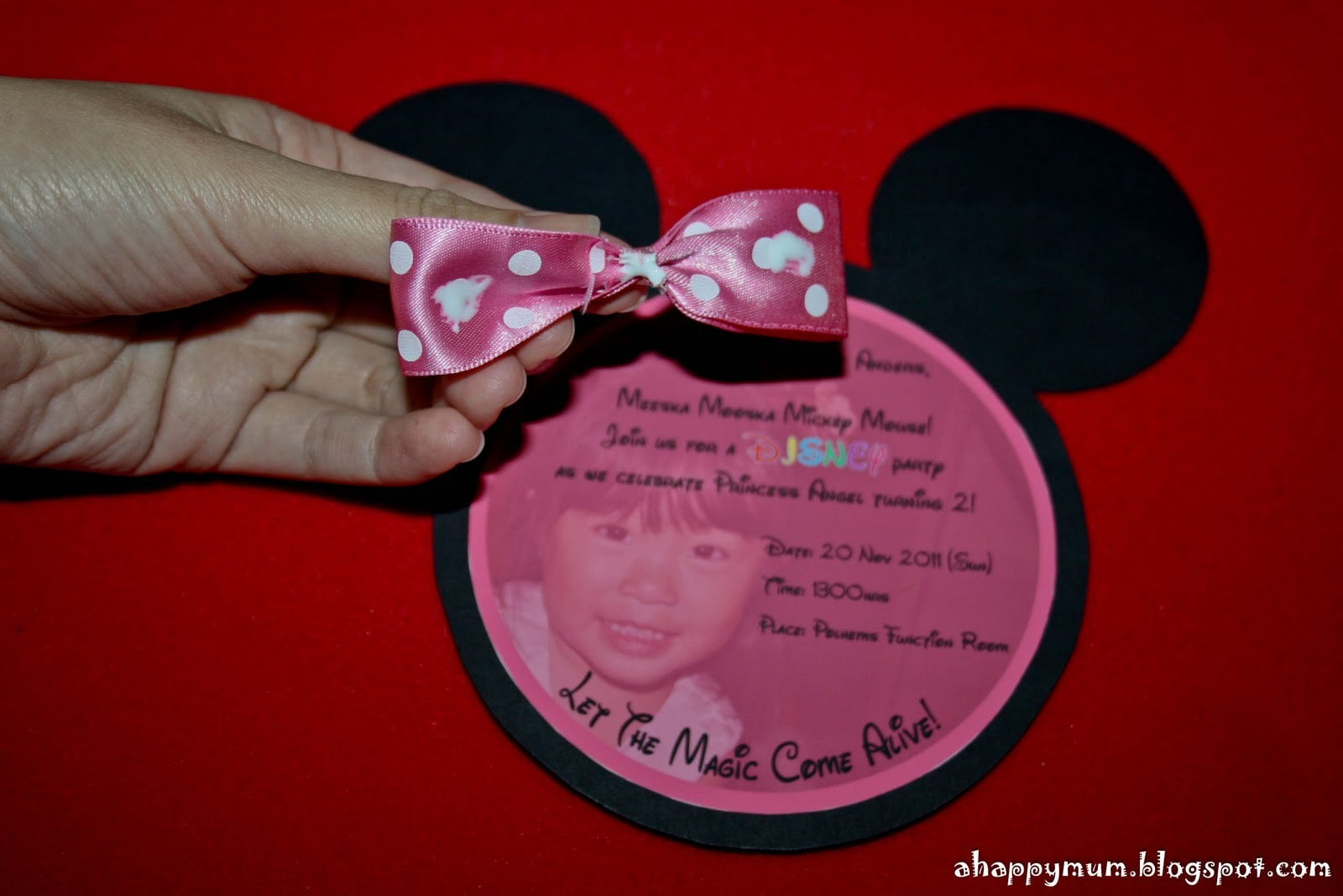 Minnie Mouse Invites Templates 3