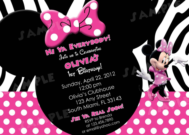 Minnie Mouse Printable Birthday Invitations 3