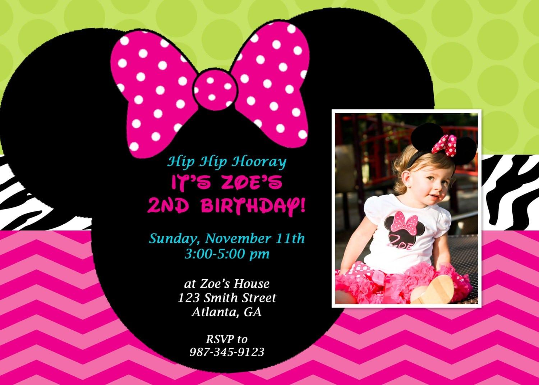 Minnie Mouse Printable Birthday Invitations 4