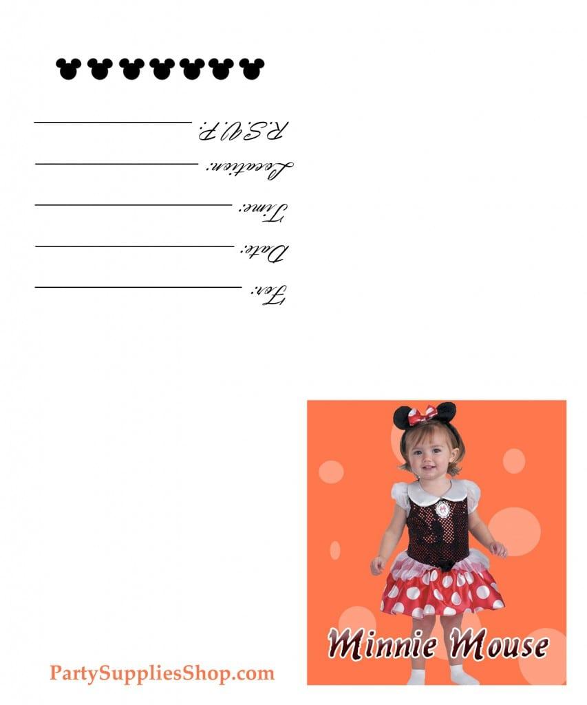Minnie Mouse Printable Birthday Invitations 5