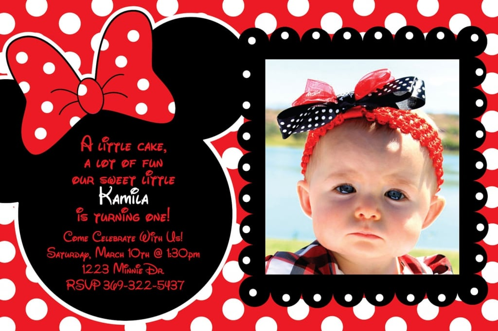 Minnie Mouse Red Invitations