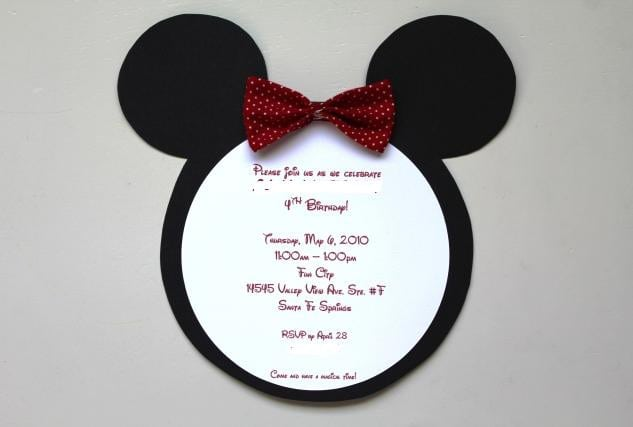 Minnie Mouse Template Invitations 2