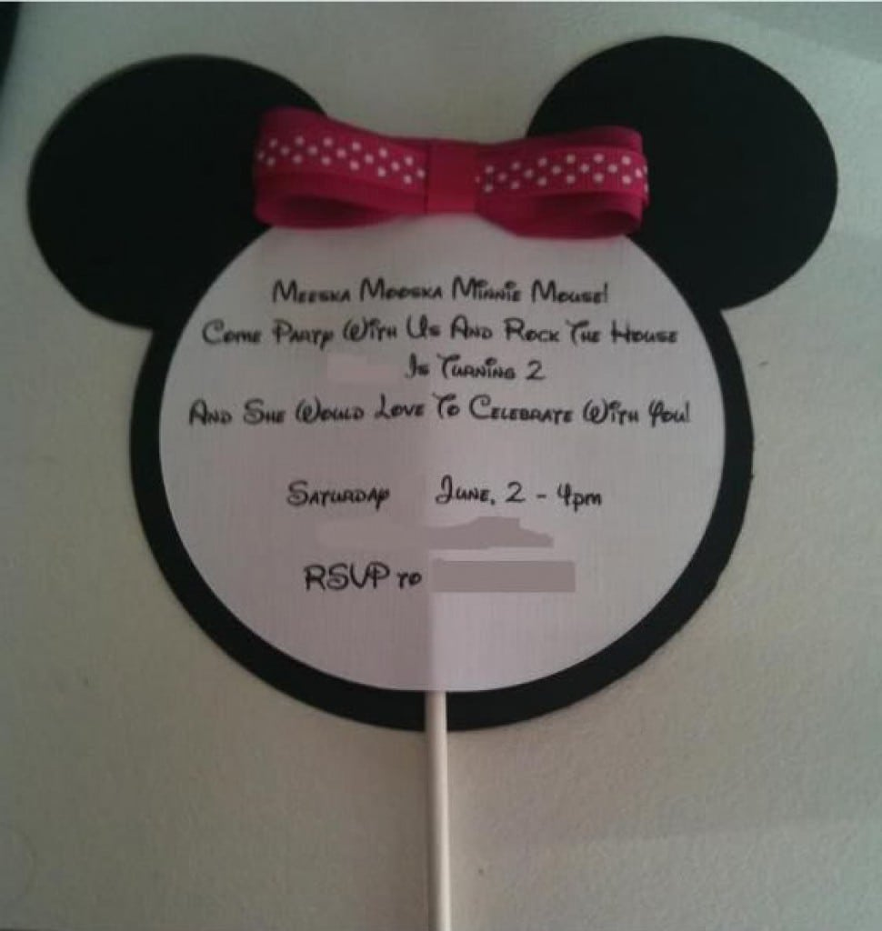 Minnie Mouse Template Invitations 3