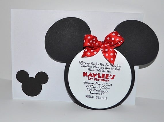 Minnie Mouse Template Invitations 4