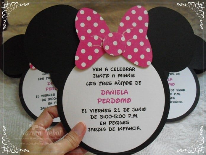 Minnie Mouse Template Invitations 5