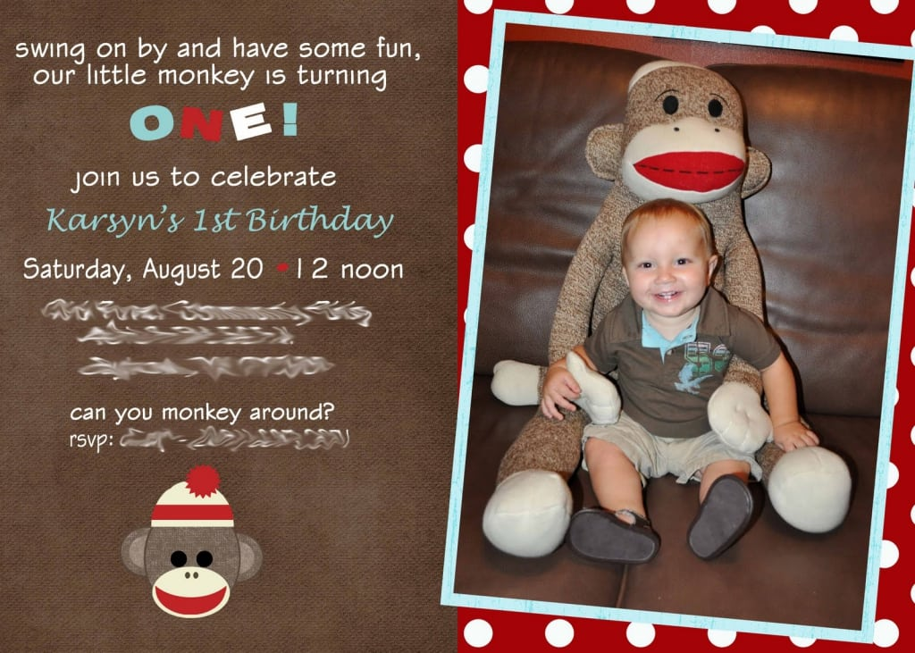 Monkey Party Invitation Template