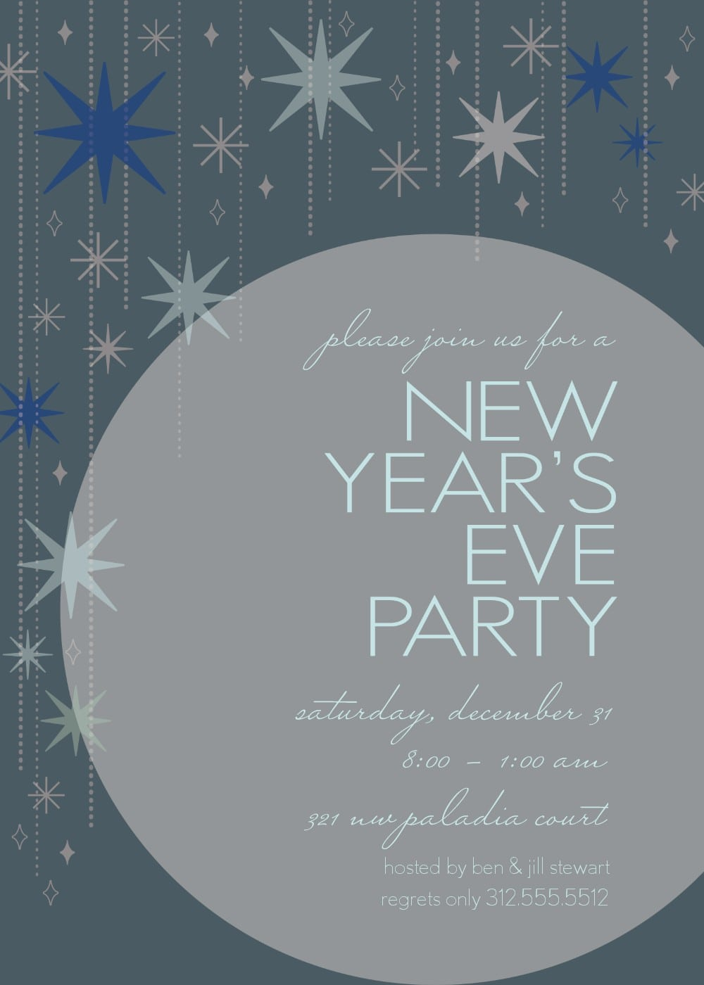 New Years Eve Party Invitation Templates - New years eve party invitation templates free