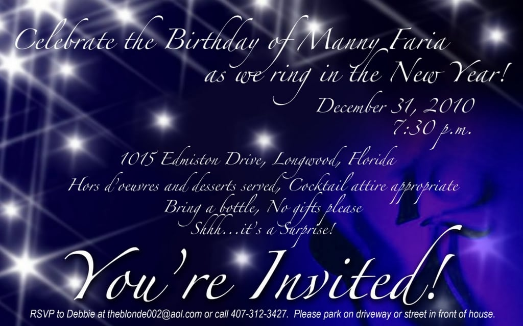 New Years Eve Party Invitation - New years eve party invitation templates free