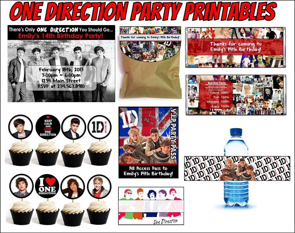 One Direction Printable Birthday Invitations 2