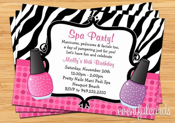 Pamper Party Invitations Templates Free Printable 5