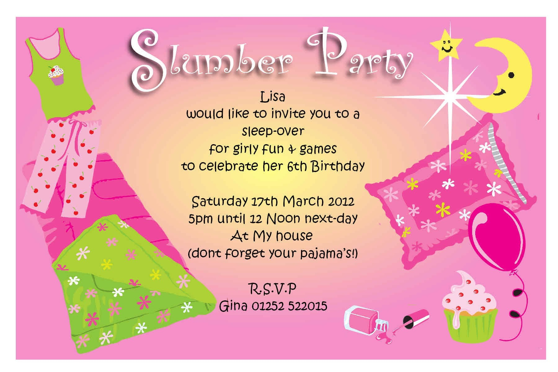 Party Invitations For Girls Teenage 3