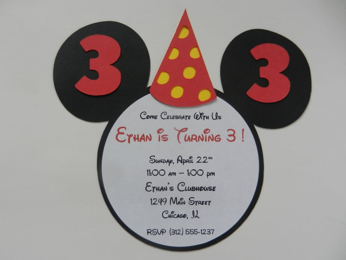 Party Invitations Mickey Mouse