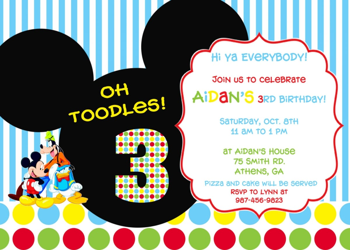 Party Invitations Mickey Mouse Clubhouse