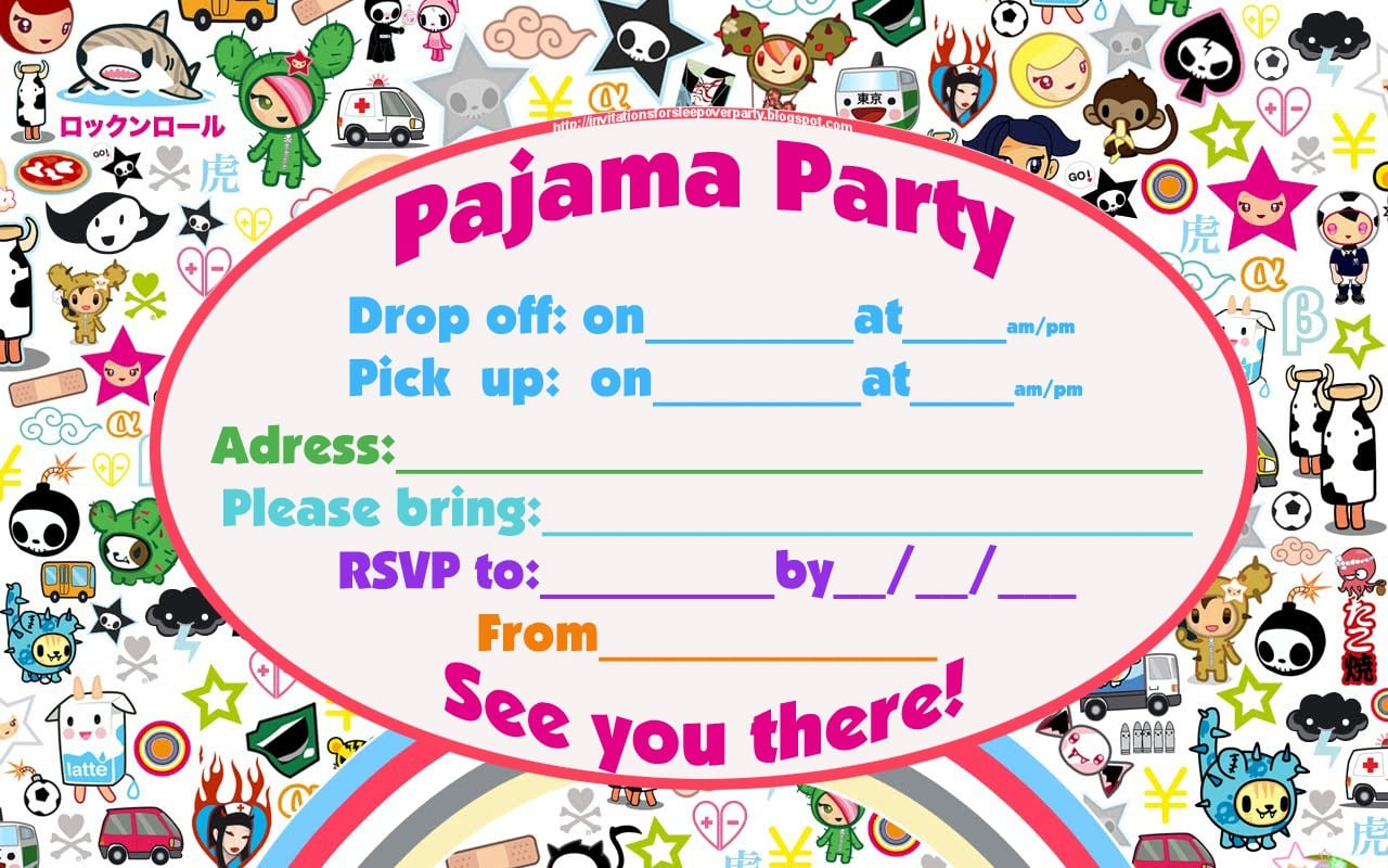 Party Invitations Templates For 13 Year Old 5