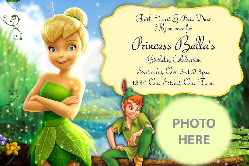 Personalized Tinkerbell Invitations Printable