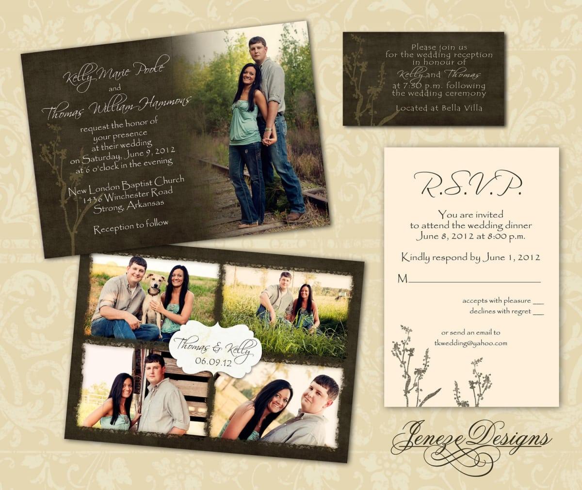 Photoshop Template Wedding Invitation Free