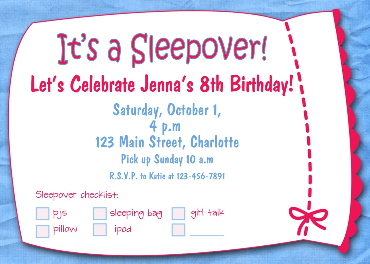 Pink Party Invitation Templates Free