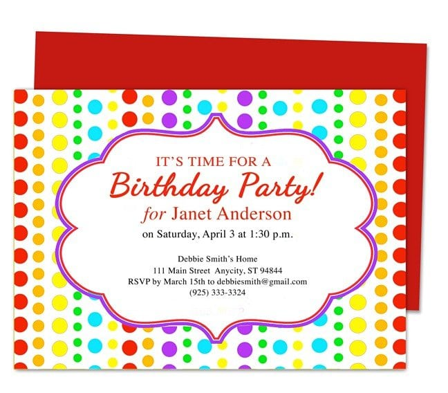 Pool Party Invitation Template For Powerpoint Free – Party Invitation Samples