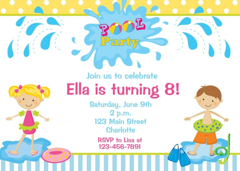 Invitation City  Free Birthday Party Invitation Template