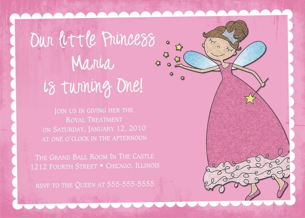 Princess Birthday Invitations Free Print
