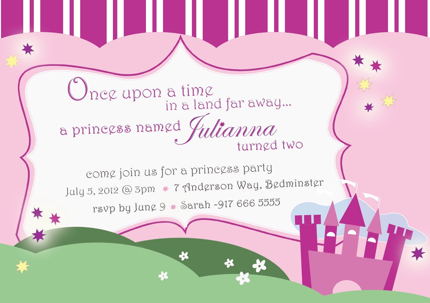 Princess Birthday Party Invitations Printable