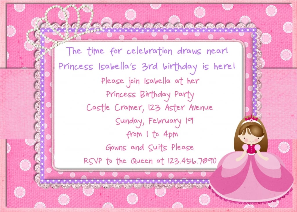 Princess invitation templates stopboris Gallery