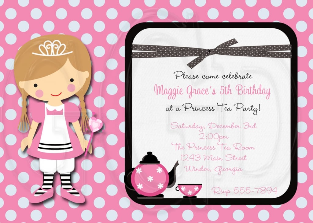 Princess Tea Party Invitations Printable