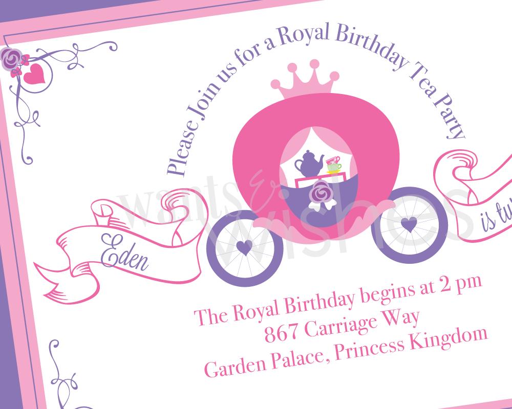 Princess Tea Party Invitations Printable